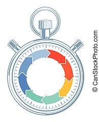 Zeit-Stop.eps - Countdown time concept, pictogram