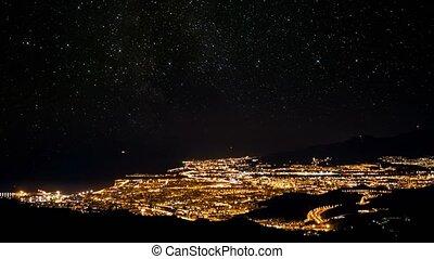 zeit- versehen, sternennacht, aus, malaga, an, silvester, andalusien, spanien