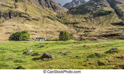zeit- versehen, von, der, erstaunlich, landschaftsbild, von, der, schottische hochländer
