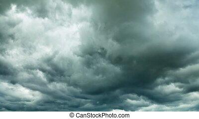 Zeit-Versehen, wolkenhimmel, sturm