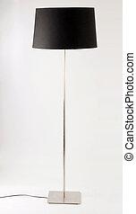 zeitgenössisch, boden, lamp., freigestellt, weiß