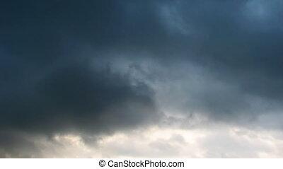 zeitraffer umwölkt, regen