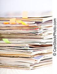 Zeitschriften, Stapel