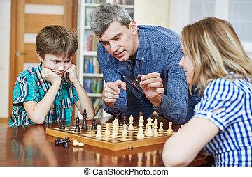 zeitvertreib, familie, hobby, spiel, schach, home.