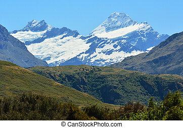zelândia, aspirando, parque, monte, -, novo, nacional