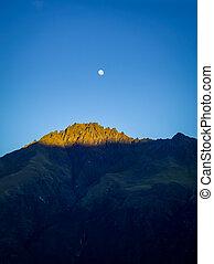 zelândia, montanhas, lua, novo