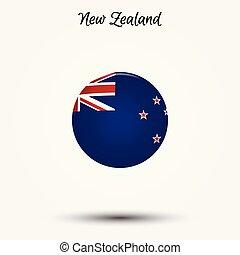 zelândia, novo, bandeira, ícone