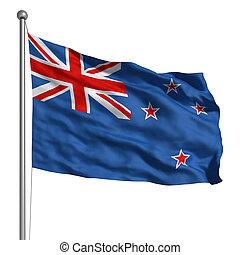 zelândia, novo, bandeira
