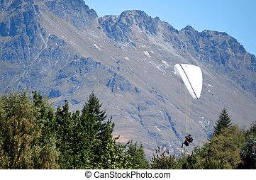 zelândia, novo, extremo, skydiving