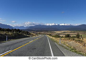 zelândia, novo, montanhas