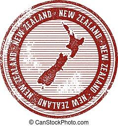zelanda, francobollo, paese, vendemmia, nuovo, turismo