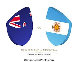 zelanda, rugby, campionato, vs, 3., nuovo, argentina, rotondo, 2018