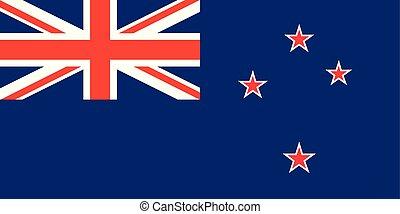 zelanda, unione, croce del sud, bandiera, vettore, cricco,...