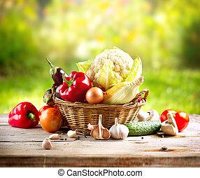 zelenina, organický