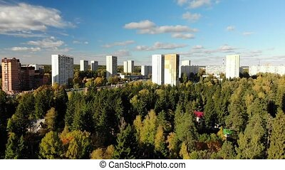 Zelenograd is ecologically clean district of Moscow in...