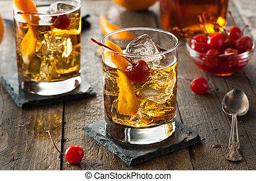 zelfgemaakt, gevormd oud, cocktail