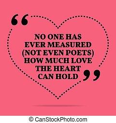 zelfs, hart, liefde, inspirational, nee, ooit, quote., een, ...