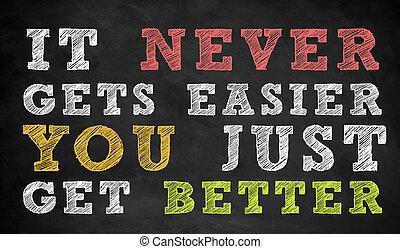 zelfs, krijgen, noteren, motivational, -, beter, u