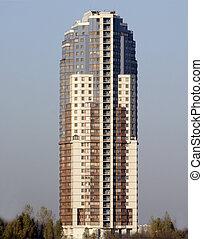 zelfstandig, high-rise, gebouw