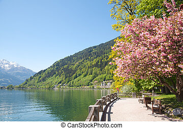 Zell lake in Zell Am See, Austria