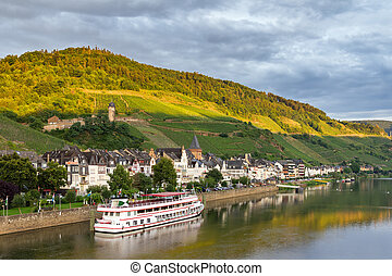 Zell (Mosel) in afternoon light