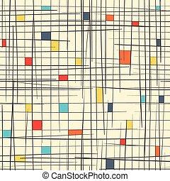 zelle, abstrakt, vektor, pattern., seamless