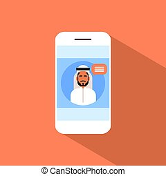 zelle, klug, telefon, mit, moslem, mann, unterhaltung, medien, kommunikation, sozial, vernetzung