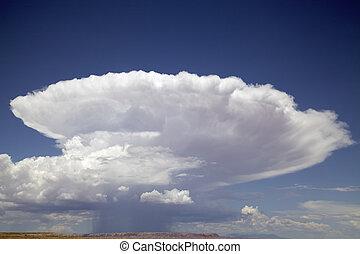 zelle, ledig, cumulonimbus, wolke