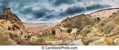 zellen, georgia., kakheti, panorama, hunderte, befindlich, ...
