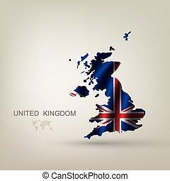 země, důležitý, prapor, británie