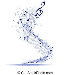 zenés, háttér