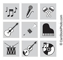 zenés, ikonok