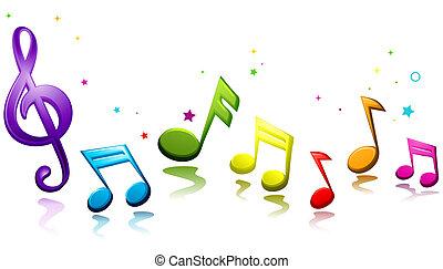 zenés, szivárvány