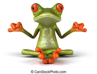 zen, żaba