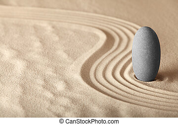zen 庭, symplicity, そして, 調和, 形態, a, 背景, ∥ために∥, 瞑想, そして,...