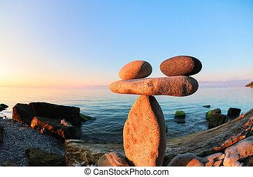 Zen at the seashore, fisheye
