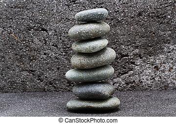 zen, ausgleichen, stapel, kiesel