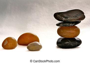 zen balanced polished stones