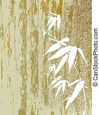 Zen Bamboo vintage illustration