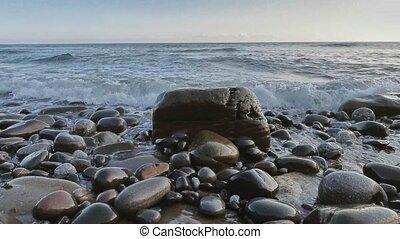 zen, basque, wawe, naturel, pays, plage, azkorri, jour