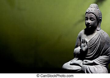 zen, buddha, statue