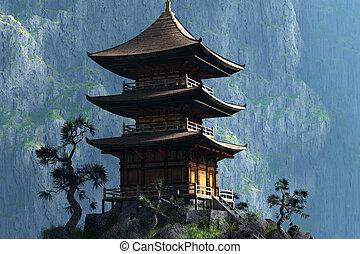 Zen Buddhist temple  - entrance