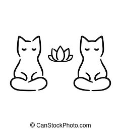 Zen cats drawing
