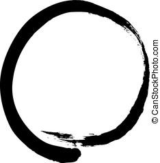 Zen circle - Black zen circle isolated on white background....