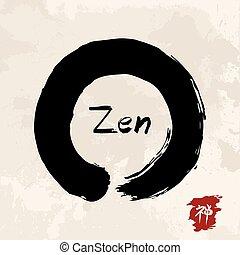 Zen circle illustration traditional enso - Enso Zen circle...