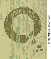 Zen circle vintage wood texture background - Zen circle...