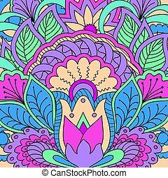 zen-como, coloridos, padrão