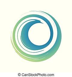Zen Curl Wave Symbol Vector Symbol Graphic Logo Design
