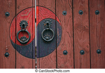 Traditional Korean door