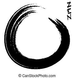 zen - vector illustration of a zen circle